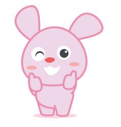 rabbit smilling character cartoon vector image