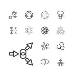13 atom icons vector
