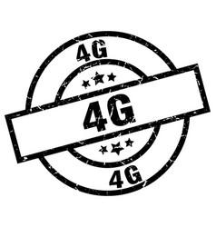 4g round grunge black stamp vector