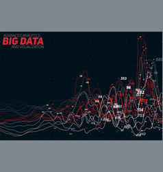 Abstract colorful financial big data vector
