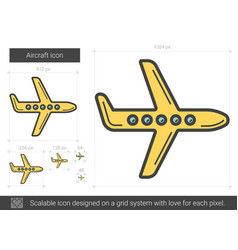 Aircraft line icon vector