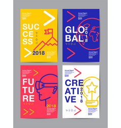 Annual report 201820192020 future business vector