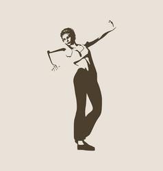 beautiful dancing woman vector image