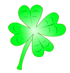 Beautifull green cloverleaf vector