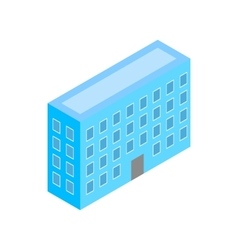 Building icon isometric 3d style vector image vector image