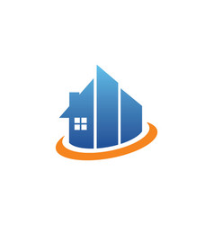Building realty company logo vector