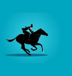 businessman riding a horse vector image vector image