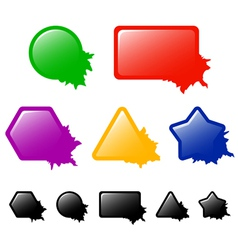 Buttons or banners with blots vector