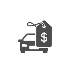 Car in price with tags icon vector