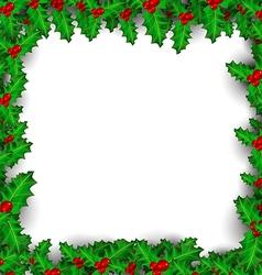 Christmas Mistletoe Border vector image