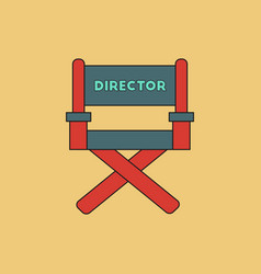 Cinema producer seat in flat vector