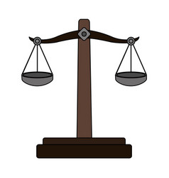 color graphic balance symbol of justice vector image