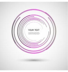 Color line twirl design vector