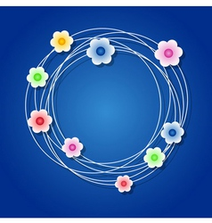 Colored floral wreath vector image