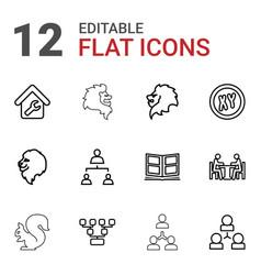 Company icons vector