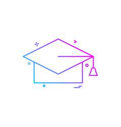 convocation cap icon design vector image