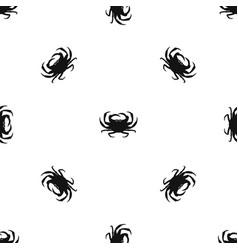 crab pattern seamless black vector image