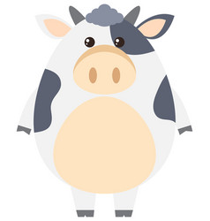 Cute cow on white background vector