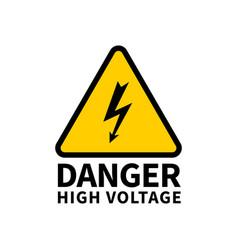 Danger high voltage vector