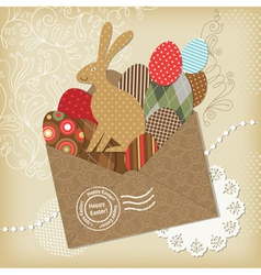 easter scrapbooking elements vector image