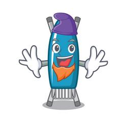 Elf iron board character cartoon vector
