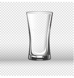 empty drinking glass isolated on transparent vector image
