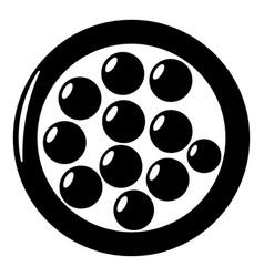 Face powder icon simple black style vector