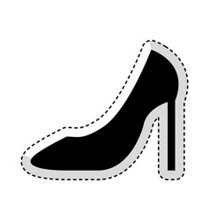 female shoes heel icon vector image