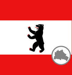 Flag and map berlin vector