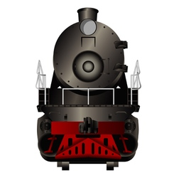 Front view of a old steam locomotive vector