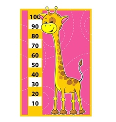 Giraffe scale vector