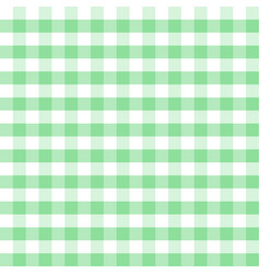 Green and white plaids seamless pattern checkered vector