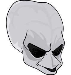 Grey alien head vector