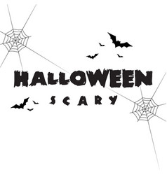 halloween background for banner and poster vector image