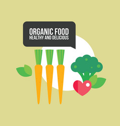Healthy food background with vegetables carrots vector