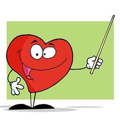 Heart teacher cartoon vector