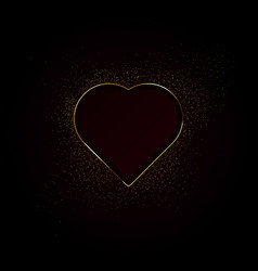 hearts made with golden sparkles background vector image