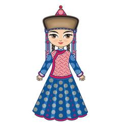 Historical clothes buryatia vector
