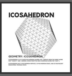 Isolated low poly icosahedron 3d model render vector
