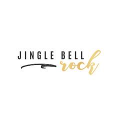 Jingle bell rock text vector