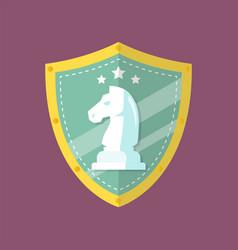Knight chess emblem logo vector