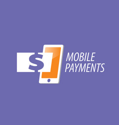 Logo mobile payments vector