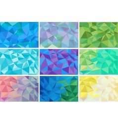 low poly style graphic background Set vector image