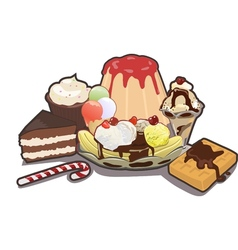 Mixed Sweets vector