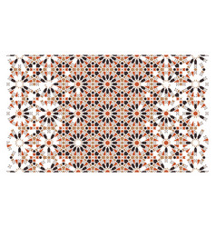 Mosaic tile modern decorative pattern arabesque vector