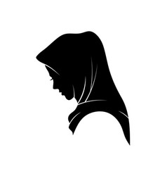 muslim woman in hijab fashion vector image