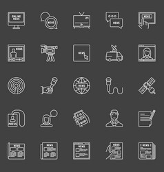 news icons set vector image