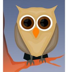 Owl on tree vector