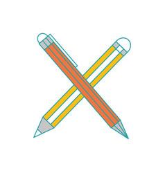 Pen and pencil design vector