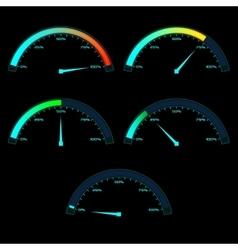 Power or Speed Meter Dashboard Gauge vector image